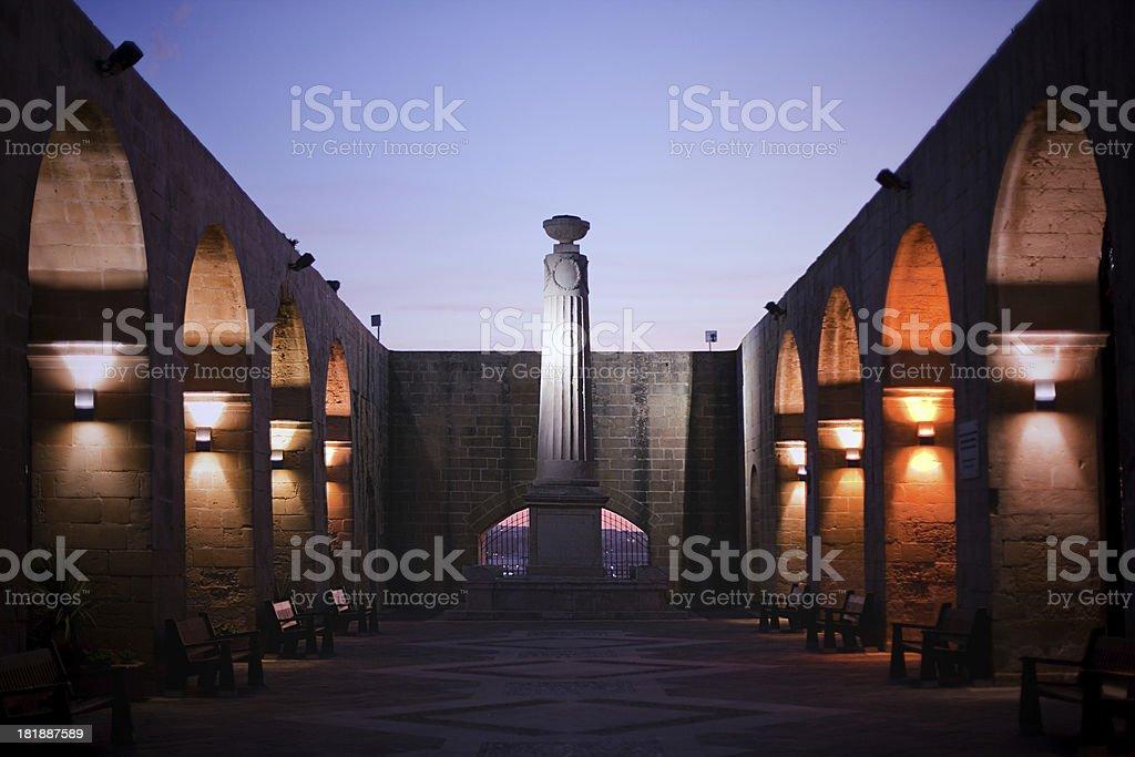 Park in Valletta stock photo
