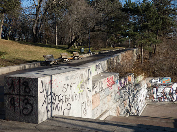 Park Letna in Prague, Czech Republic stock photo
