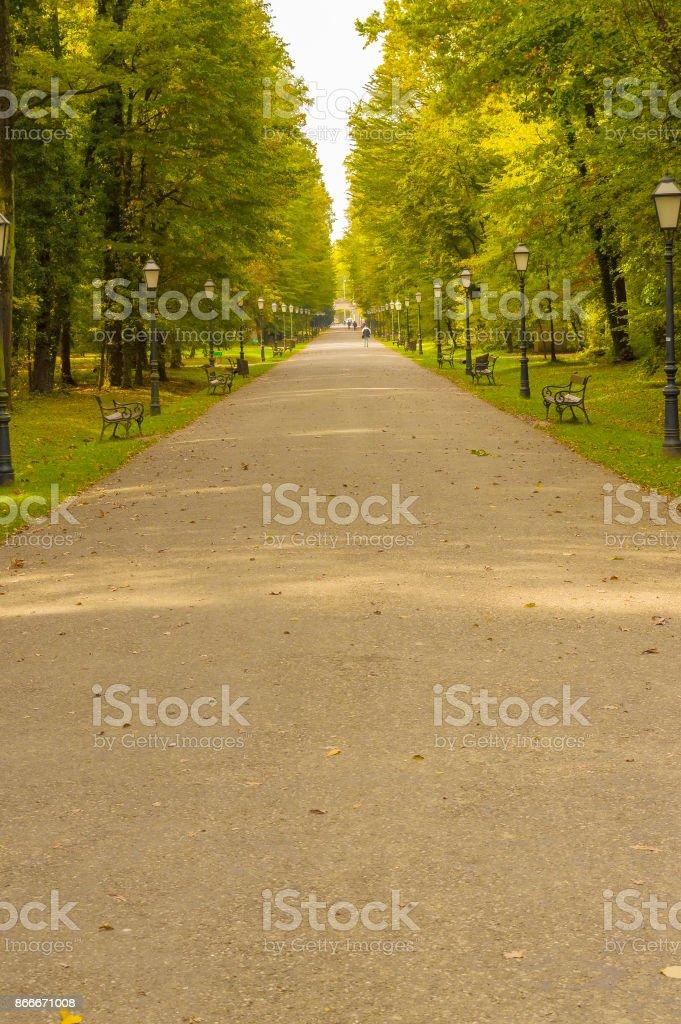 Park Maksimir in Zagreb stock photo