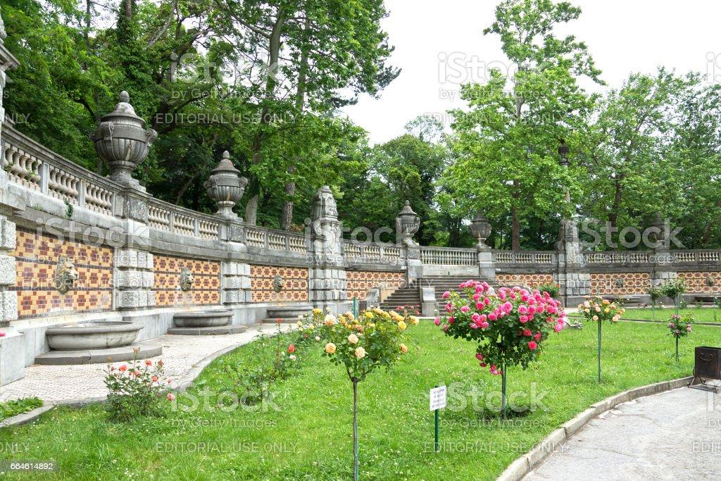 MASSANDRA, CRIMEA, RUSSIA - JUNE 09.2015 Park Massandra Palace stock photo