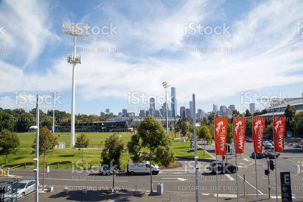 AAMI Park - Melbourne Rectangular Stadium stock photo