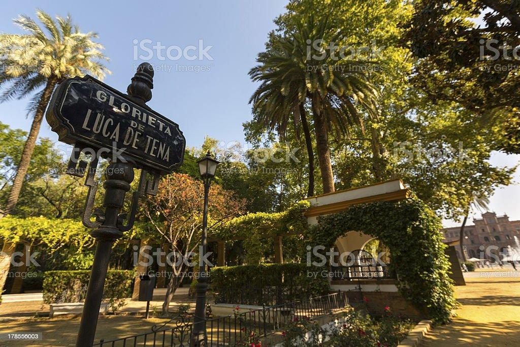 Park near 'Place de l'Espagne' royalty-free stock photo