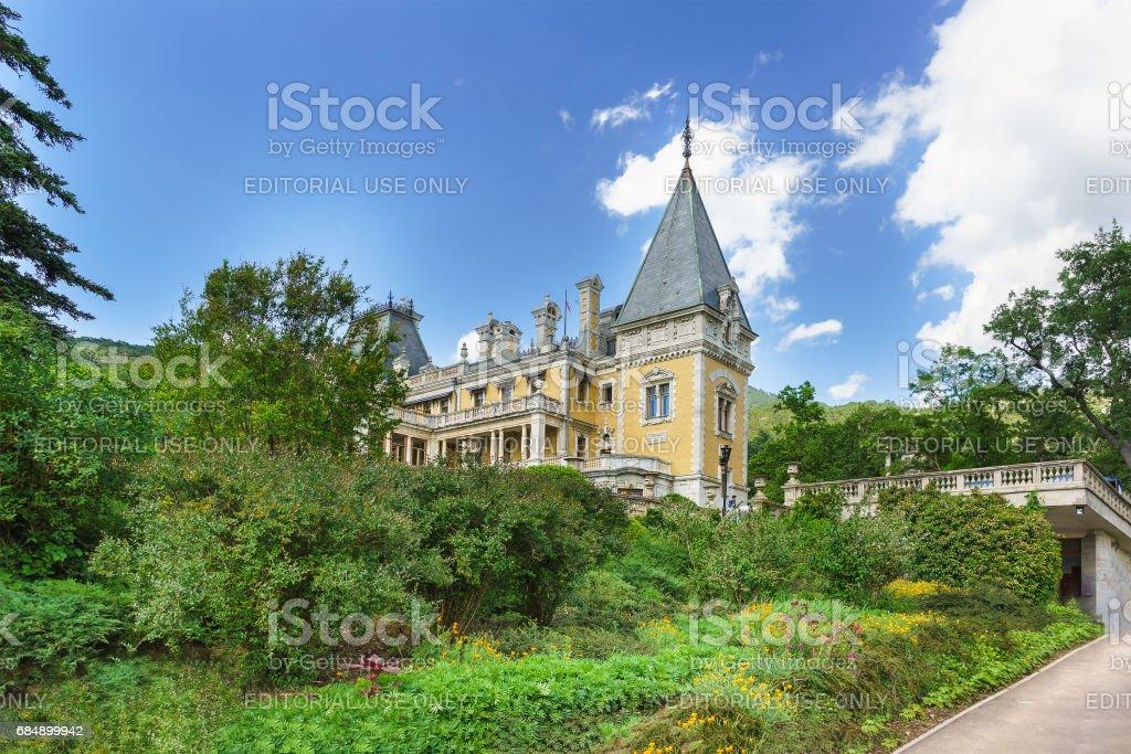 YALTA, CRIMEA, RUSSIA - JUNE 07.2016: Park near the Massandra Palace of Emperor Alexander III . Crimea, Russia stock photo