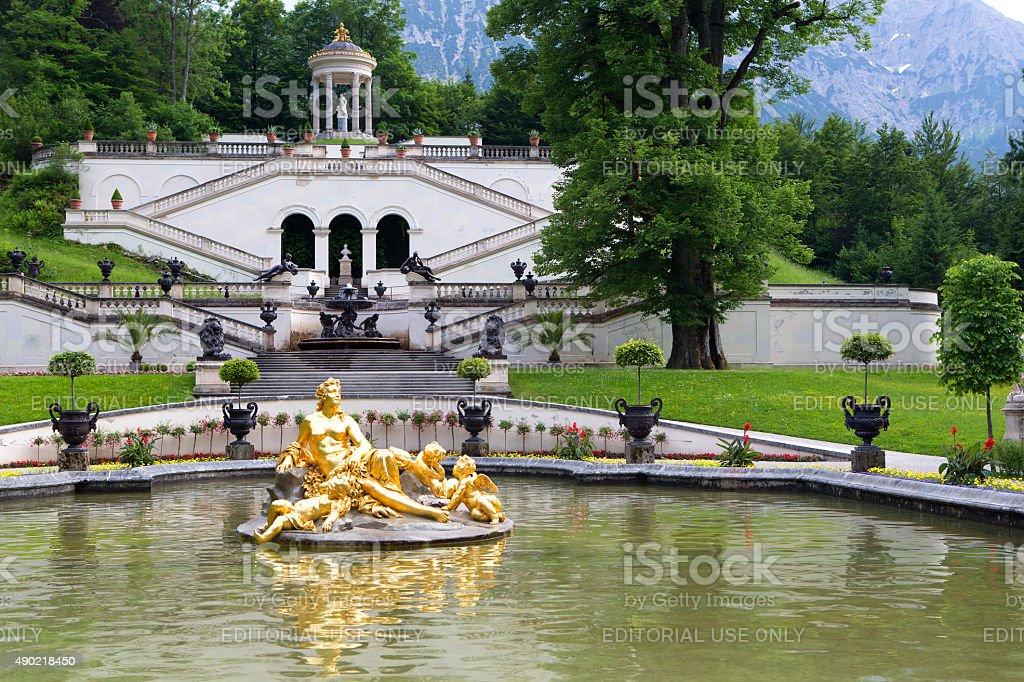 Park von Schloss Linderhof, Bavaria – Foto