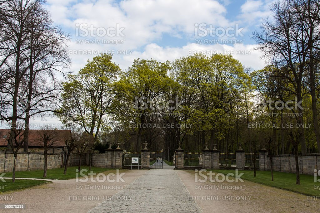 Park of the New Palace in Bayreuth, Germany, 2015 stock photo