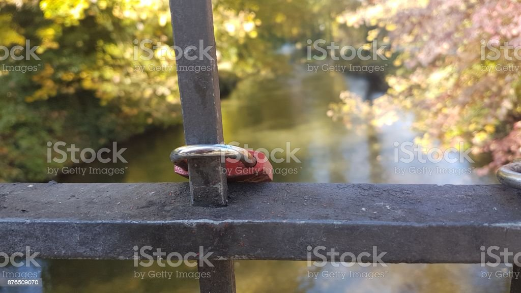 A park on a sunny autumn day stock photo