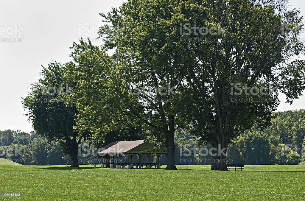 Park Picnic Area royalty-free stock photo