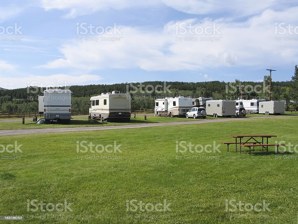 RV Park royalty-free stock photo