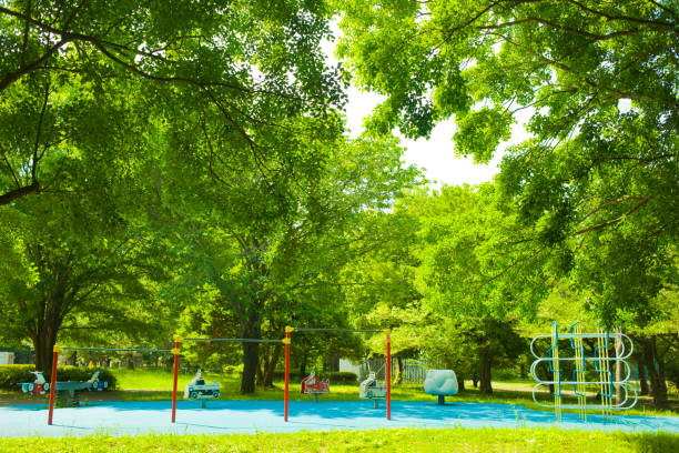 Park Sunny park leisure equipment stock pictures, royalty-free photos & images