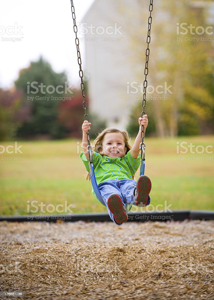 Park Play on an Overcast Fall Day royalty-free stock photo