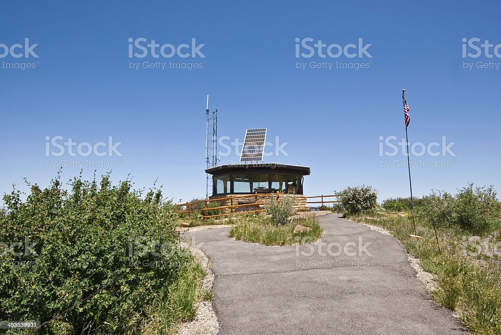 Park Point Fire Lookout stock photo