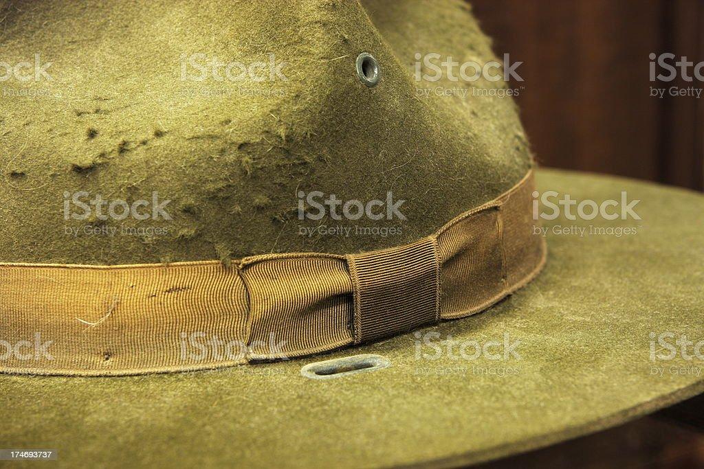 Park Ranger Hat Historic Campaign Headwear royalty-free stock photo