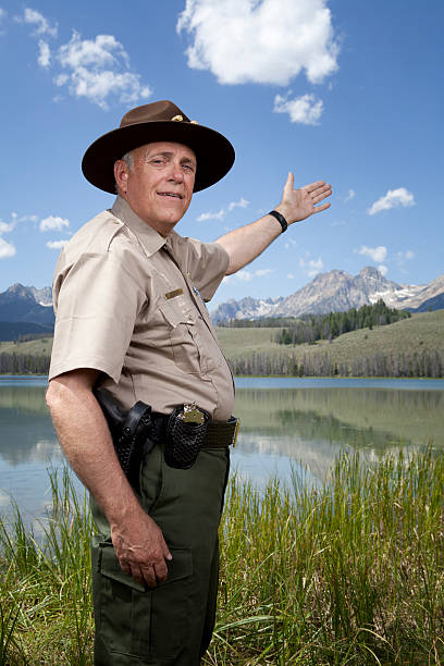 Park Ranger Park Ranger. This stock image has a vertical composition. park ranger stock pictures, royalty-free photos & images