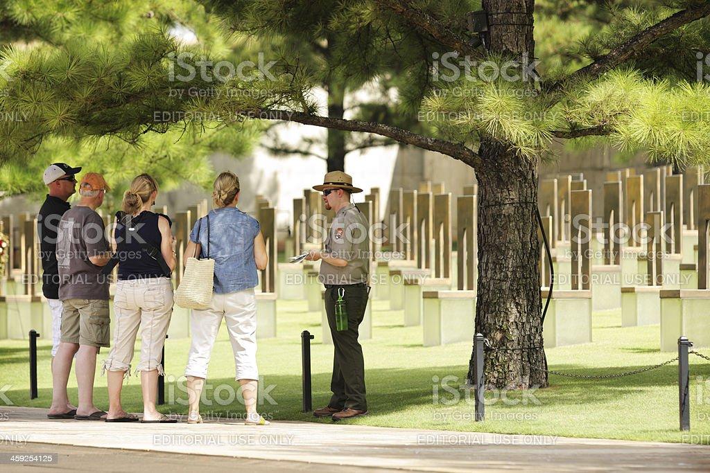Park Ranger Teaching Tourists royalty-free stock photo