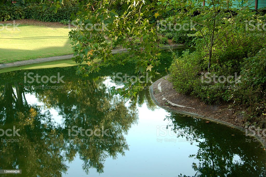 Park Reflections royalty-free stock photo