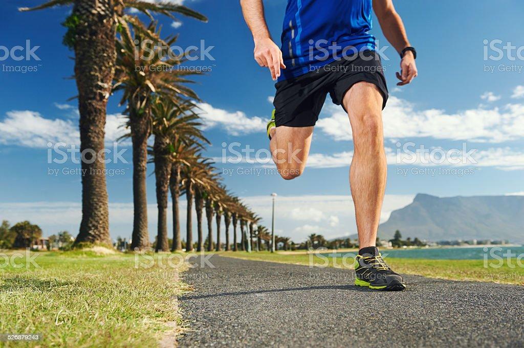 park running stock photo