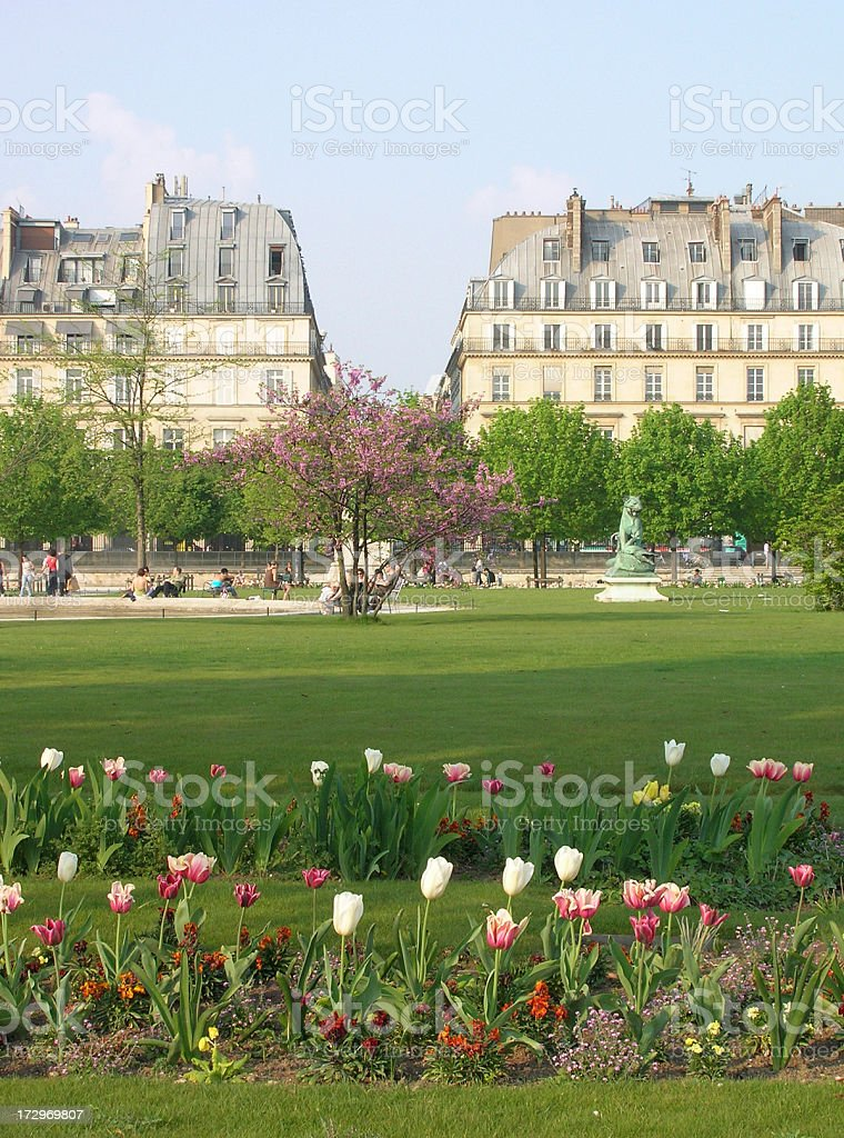 Park Scene in Paris royalty-free stock photo