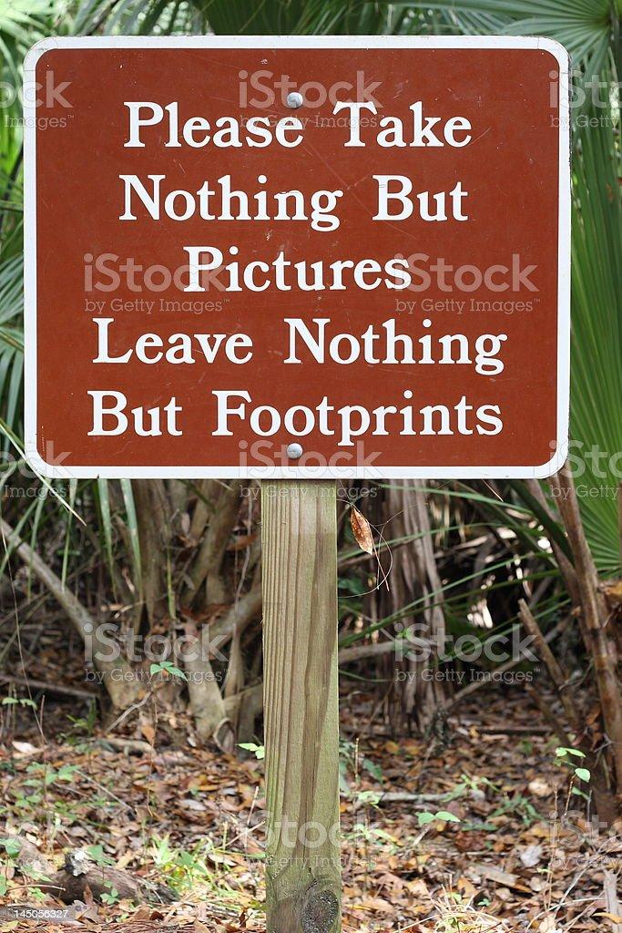 park sign stock photo