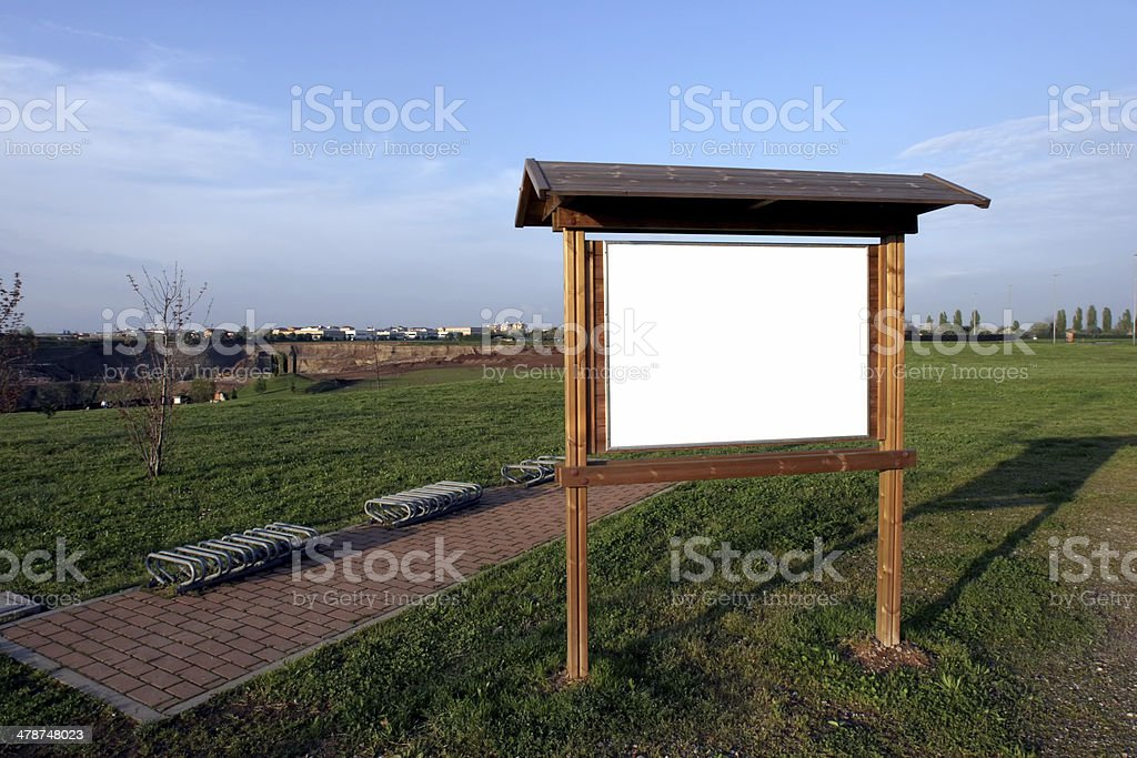 park sign with space for copy stock photo