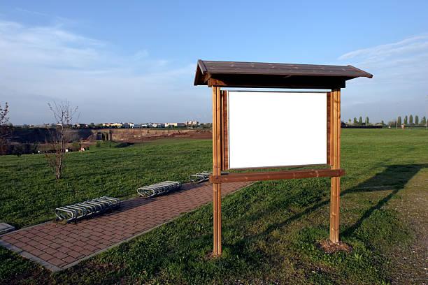 Parco di con spazio per il testo - foto stock