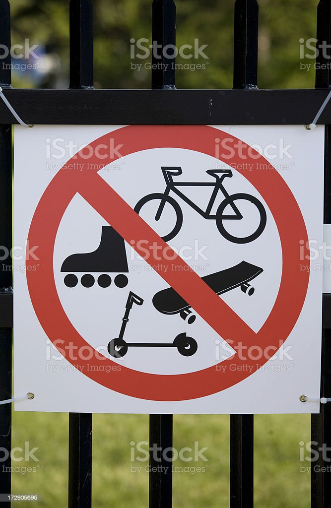 Park signs with recreational restrictions royalty-free stock photo
