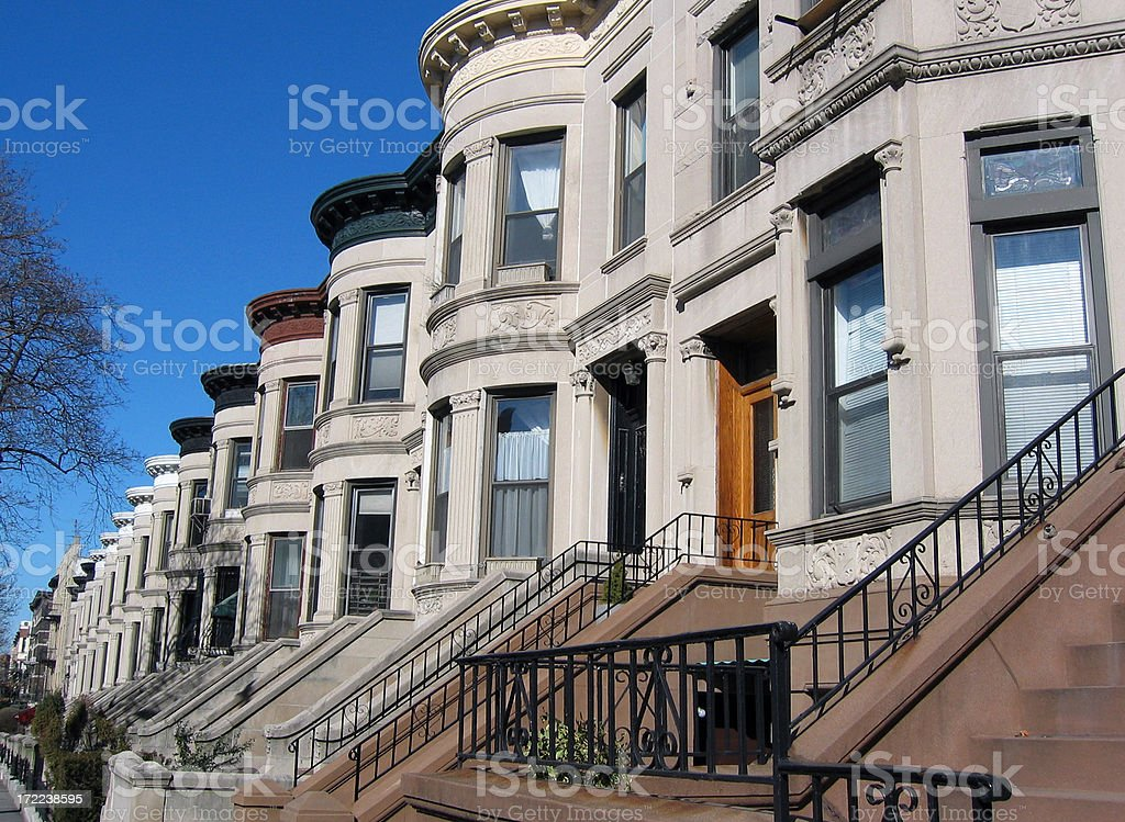 Park Slope, Brooklyn royalty-free stock photo