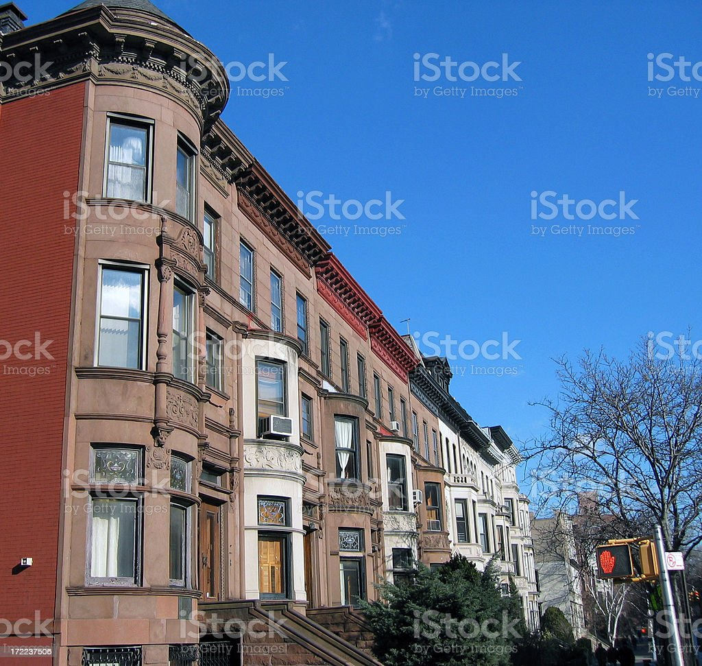 Park Slope in the winter royalty-free stock photo