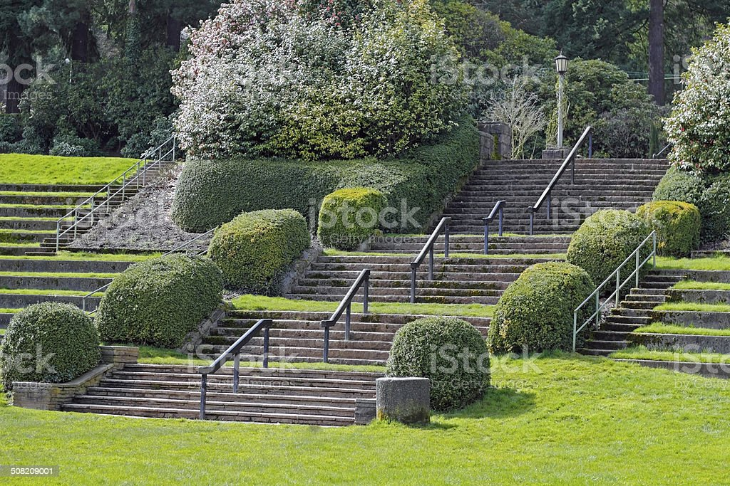 Park Stairs stock photo