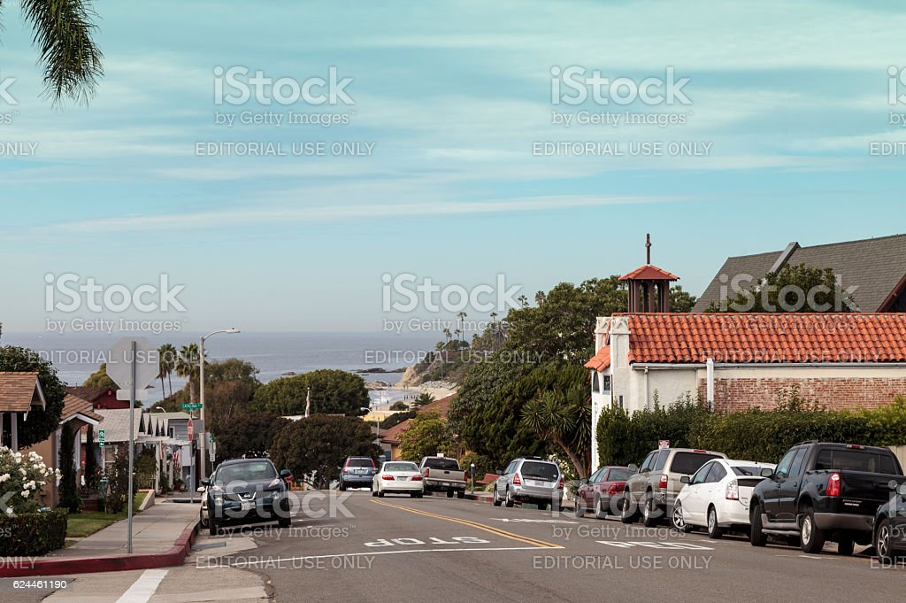 Park Street in Laguna Beach stock photo