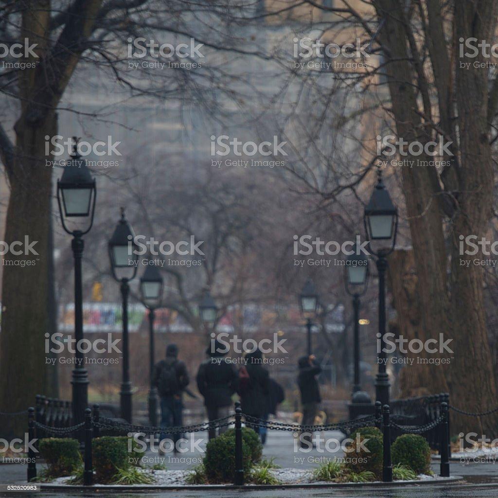 Park Stroll stock photo
