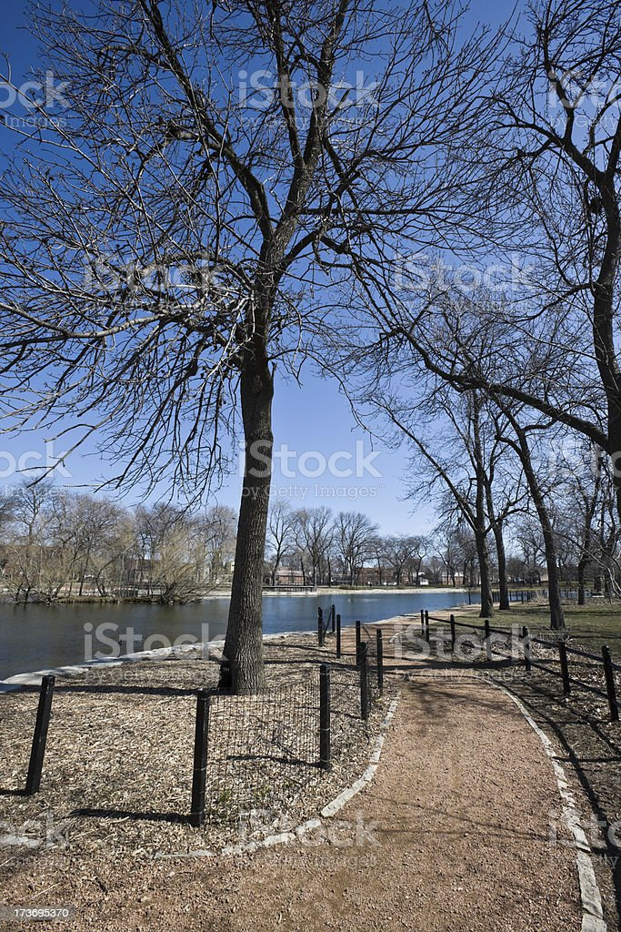 Park Trail Chicago royalty-free stock photo