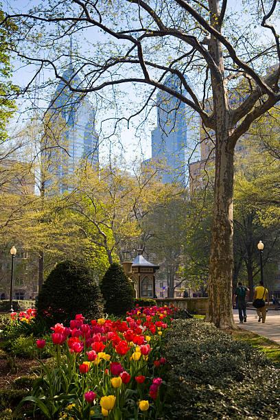 Park view of Rittenhouse Square in Philadelphia