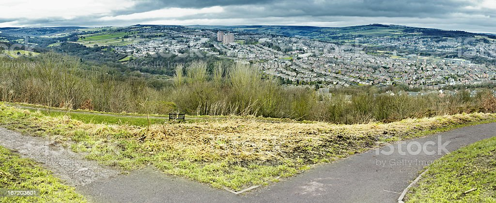 Park view of Sheffield UK stock photo