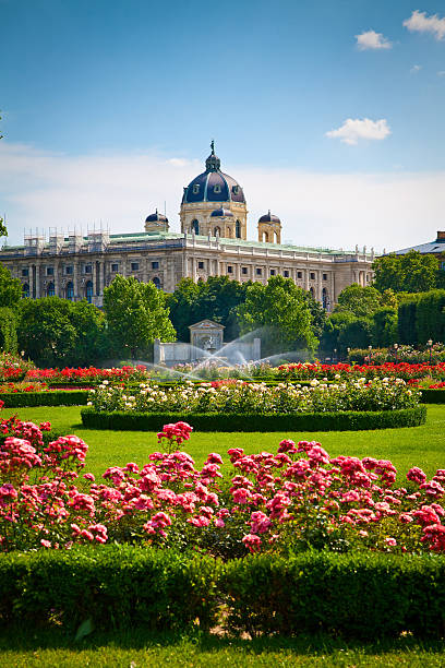 park volksgarten in front of hofburg, vienna - vienna stock photos and pictures