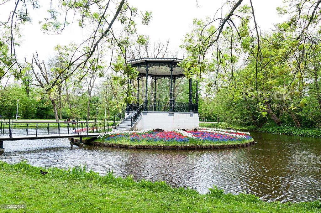 Park Vondelpark Amsterdam stock photo