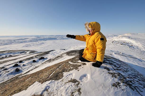 Parka man, High Arctic, Baffin Island. stock photo
