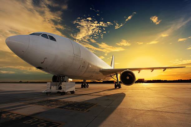 Geparkt Flugzeug – Foto