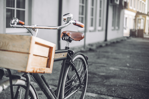 Photography of a bicycle parked on the street