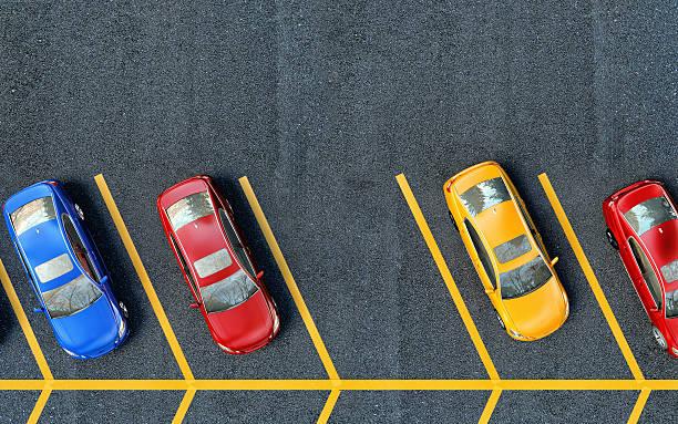 que estacione en el estacionamiento de automóviles.   uno es de cortesía - inmóvil fotografías e imágenes de stock