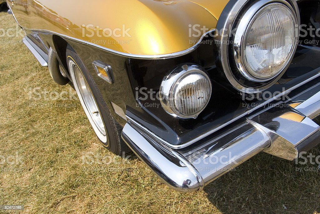 Parked classic car royalty-free stock photo