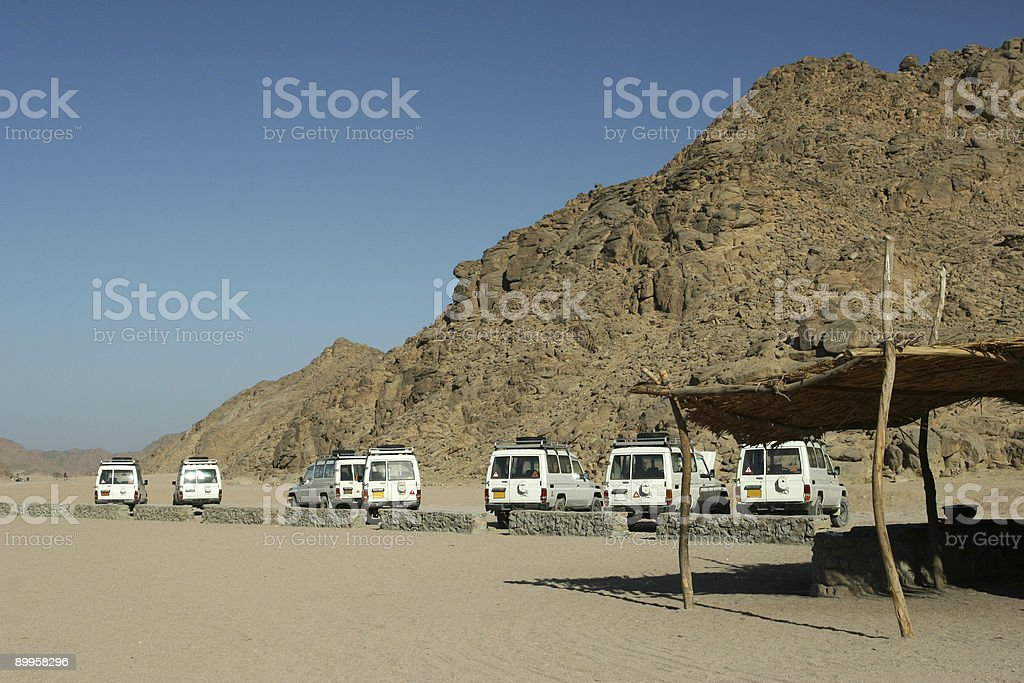 Parked Jeeps royalty-free stock photo