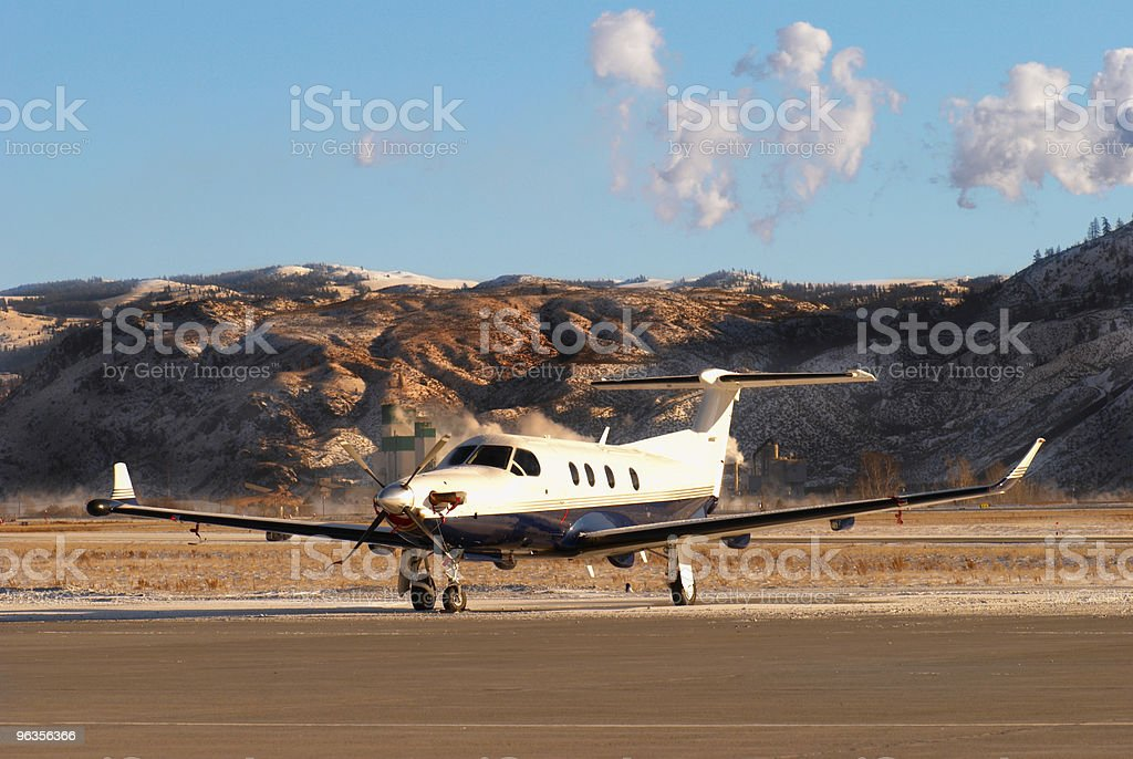 Parked Propeller Plane royalty-free stock photo