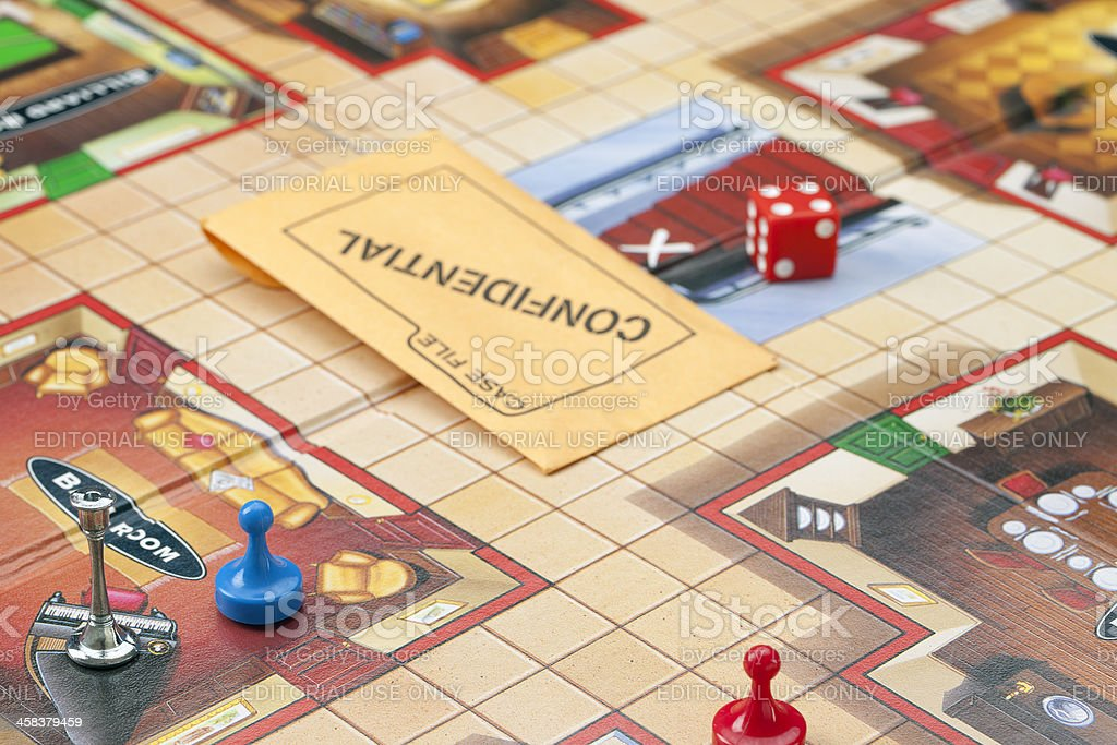Parker Brothers Board Game Clue stock photo