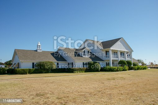 Parker, Texas / United States November 16th 2008: Front view of Southfork ranch house.  The ranch includes the Ewing Mansion, which was the setting for both Dallas television series.