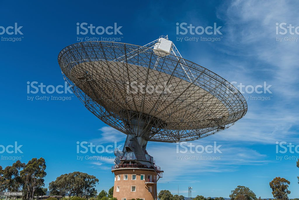Parkes Radio Telescope, New South Wales, Australia stock photo