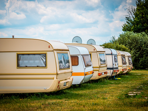 Parking RVS. Transportation for the whole family