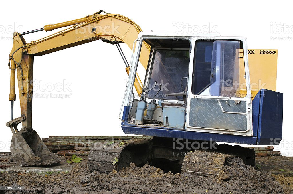 Parking excavator royalty-free stock photo