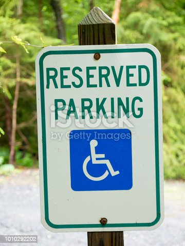 466456685 istock photo Parking for disabled or wheelchair 1010292202