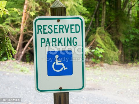 466456685 istock photo Parking for disabled or wheelchair 1010292392