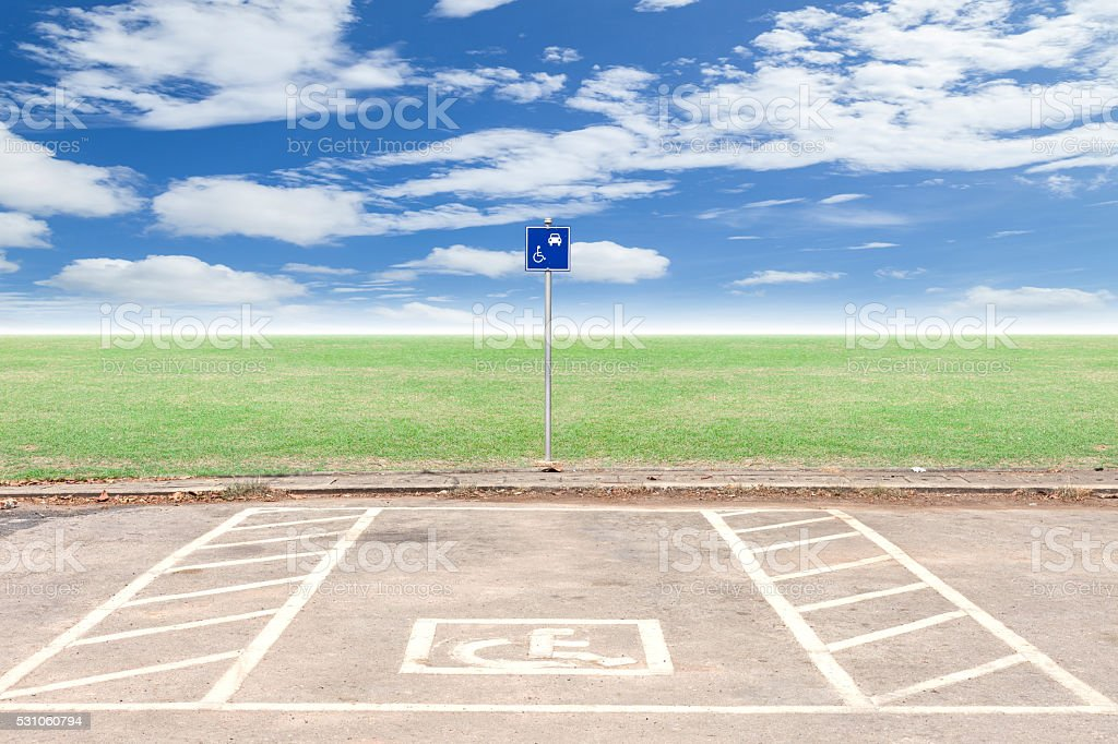 Parking for disabled wheelchair stock photo